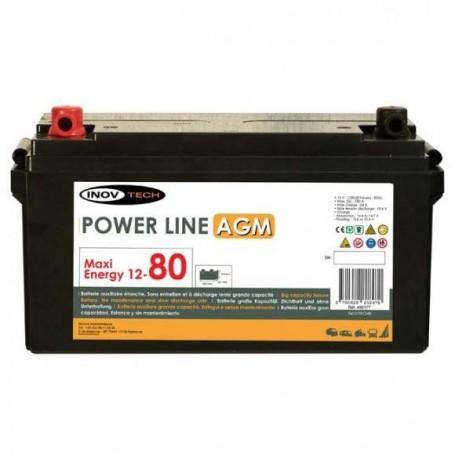 Bateria 80 Amperios AGM Autocaravanas