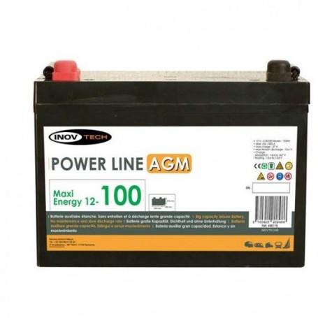 2 Baterias 100 Amperios AGM Inovtech-Powerlib Autocaravana