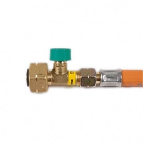 Lira con Válvula de Corte Truma g8 450 mm
