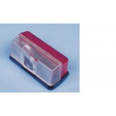 Luz de gálibo con fondo rojo/blanco 92 x 43 x 37 mm