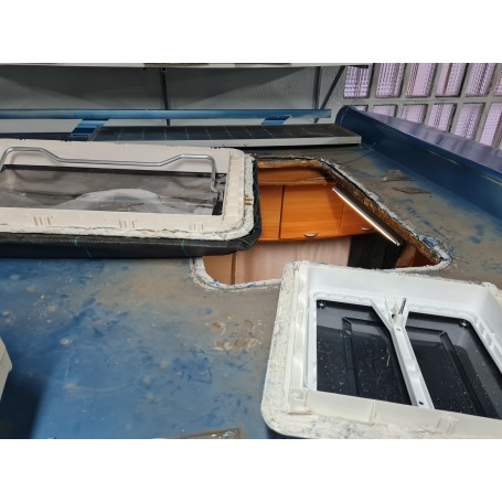 Reparacion techo granizado